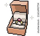 vector pixel art marriage ring... | Shutterstock .eps vector #1161690754