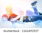 man and woman playing in the...   Shutterstock . vector #1161692527