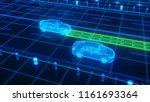 autonomous self driving... | Shutterstock . vector #1161693364
