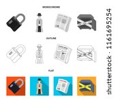 coded lock  the appearance of... | Shutterstock .eps vector #1161695254