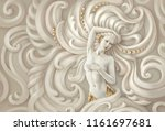 picture of a naked woman.... | Shutterstock . vector #1161697681