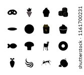 food vector icons set. ant ... | Shutterstock .eps vector #1161700231