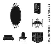 furniture and interior black... | Shutterstock .eps vector #1161706381
