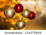 christmas decoration | Shutterstock . vector #116170654