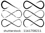 infinity symbol set. eternal ... | Shutterstock .eps vector #1161708211