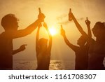 group of friends having party... | Shutterstock . vector #1161708307