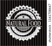 natural food silver emblem | Shutterstock .eps vector #1161708667