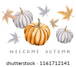 welcome autumn design template... | Shutterstock .eps vector #1161712141