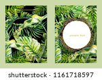 banner vertical set  watercolor ... | Shutterstock . vector #1161718597
