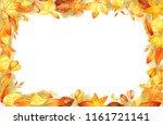 autumn leaves fall frame... | Shutterstock . vector #1161721141