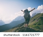 hiking in mountains | Shutterstock . vector #1161721777