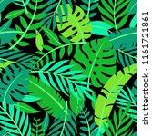 tropical vector green leaves... | Shutterstock .eps vector #1161721861