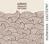 seamless abstract pattern.... | Shutterstock .eps vector #1161723787