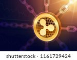 ripple. crypto currency. block... | Shutterstock .eps vector #1161729424