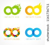 infinity eco  flame  colors  ... | Shutterstock .eps vector #1161736711