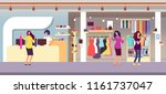 fashion store. shopping women... | Shutterstock .eps vector #1161737047