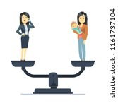 businesswoman and happy woman... | Shutterstock .eps vector #1161737104