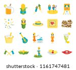 set of 20 icons such as mouth ...