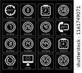 set of 16 icons such as the 22...   Shutterstock .eps vector #1161749071