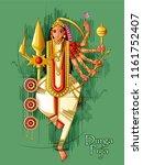 vector design of indian goddess ... | Shutterstock .eps vector #1161752407