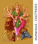 vector design of indian goddess ... | Shutterstock .eps vector #1161754321