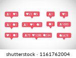 social media followers ... | Shutterstock .eps vector #1161762004