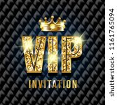 vip card. black sofa background.... | Shutterstock . vector #1161765094