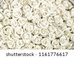 Stock photo many white roses are a top view vintage style 1161776617