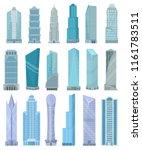 building skyscraper in... | Shutterstock .eps vector #1161783511