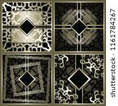 set of modern invitations with... | Shutterstock . vector #1161784267
