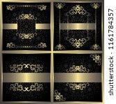 set of four luxury invitations. ... | Shutterstock . vector #1161784357