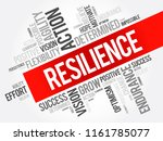 resilience word cloud collage ... | Shutterstock .eps vector #1161785077