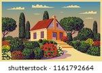sunny day in the garden near... | Shutterstock .eps vector #1161792664