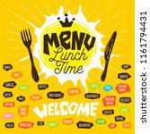 menu lunch time logo  fork ... | Shutterstock .eps vector #1161794431