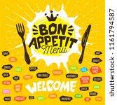 bon appetit menu welcome  fork  ... | Shutterstock .eps vector #1161794587