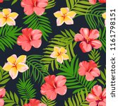 seamless pattern with tropical... | Shutterstock .eps vector #1161798151