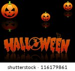 halloween background with three ... | Shutterstock . vector #116179861
