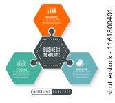 vector infographics template... | Shutterstock .eps vector #1161800401
