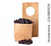 dark raisins  in the craft...   Shutterstock . vector #1161800524
