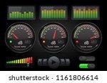 decibel sound meter with... | Shutterstock .eps vector #1161806614