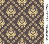 classic seamless vector golden...   Shutterstock .eps vector #1161807907