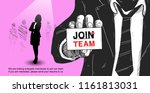 join our team design concept... | Shutterstock .eps vector #1161813031