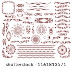 decorative elements  borders ... | Shutterstock .eps vector #1161813571