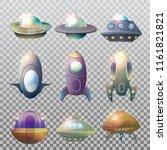 set of isolated alien... | Shutterstock .eps vector #1161821821