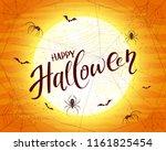 lettering happy halloween on... | Shutterstock .eps vector #1161825454