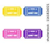 cinema ticket icons. flat...   Shutterstock . vector #1161826021