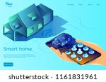 smart home system web page... | Shutterstock .eps vector #1161831961