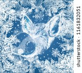 2019 frame with snowflakes and...   Shutterstock .eps vector #1161832051