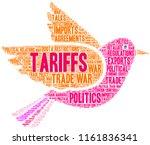 tariffs word cloud on a white...   Shutterstock .eps vector #1161836341