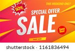 sale banner template 50  off | Shutterstock .eps vector #1161836494
